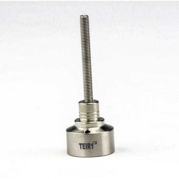 Titanium Grade 2 Universal Carb Cap w Threaded Handle, one angled hole