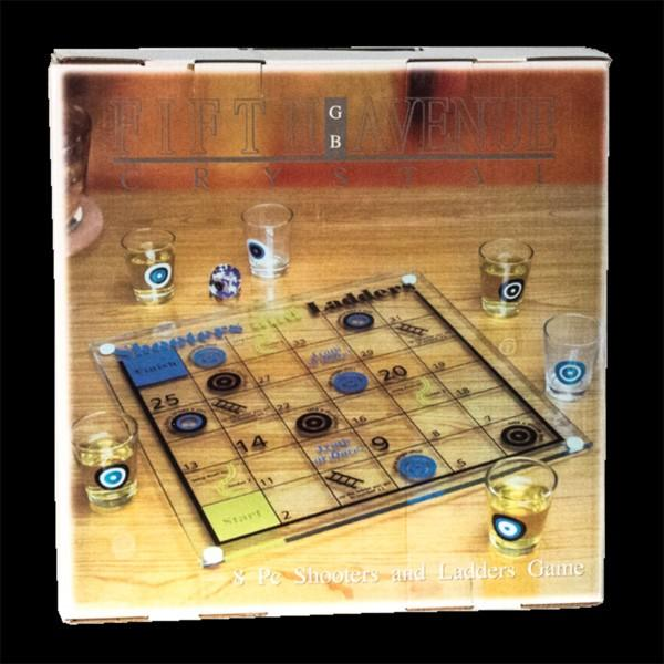 Drinking Games Snakes & Ladders w/8 Shot Glass