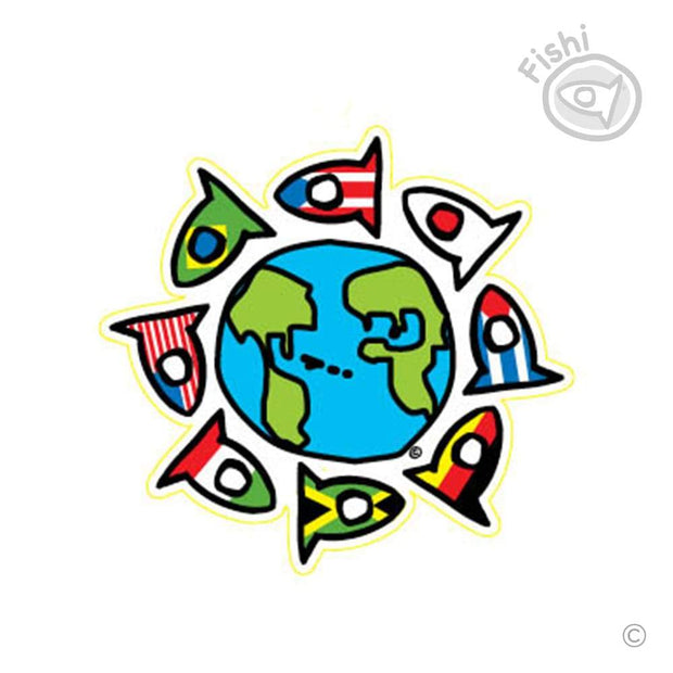 One World Fishi (Premium Sticker)