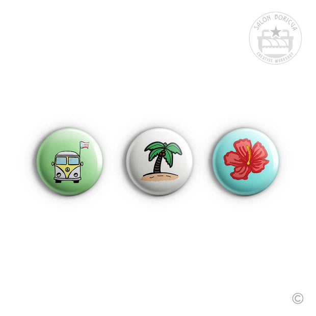 3-Pack: #07 VW Camper x Playa x Maga (Mini-Pins)