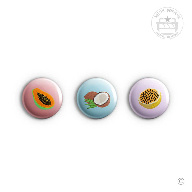 3-Pack: #11 Papaya x Coco x Parcha (Mini-Pins)