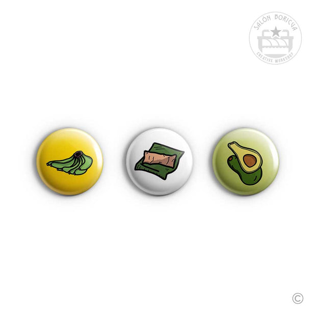 3-Pack: #09 Plátano x Pastel x Aguacate (Mini-Pins)