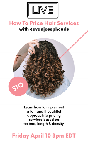 HOW TO PRICE HAIR SERVICES LIVE