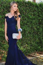 Mermaid Off-the-Shoulder Evening Dresses with Appliques