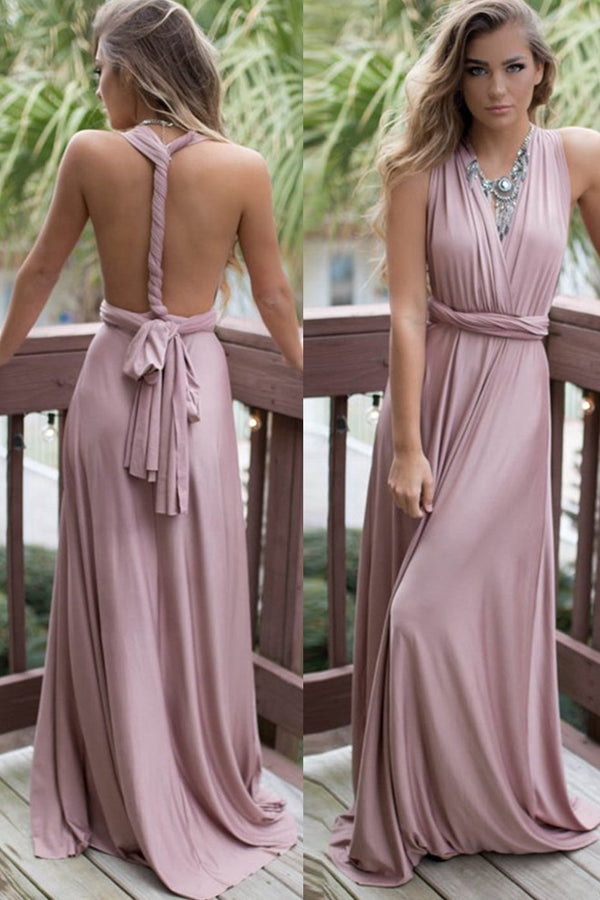 Convertible Multi Way Wrap Bridesmaid Formal Long Dresses