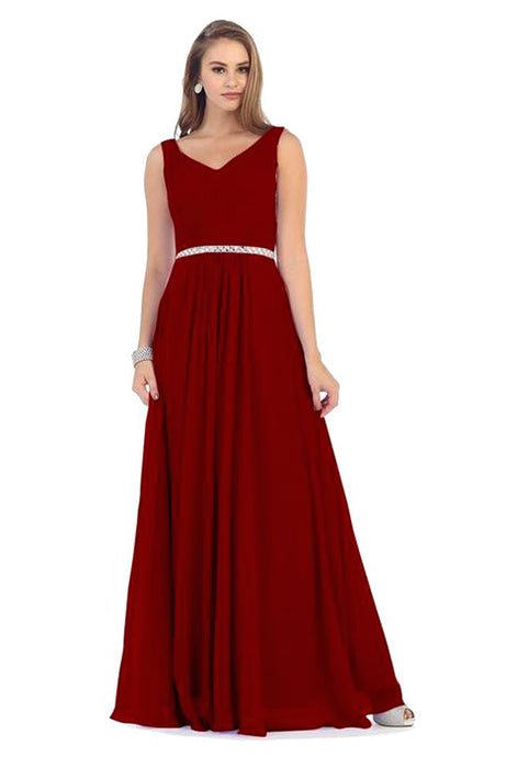 Long Simple Formal Bridesmaids Prom Dress