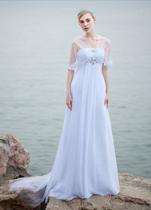 Beach Bridal Dress with Lace