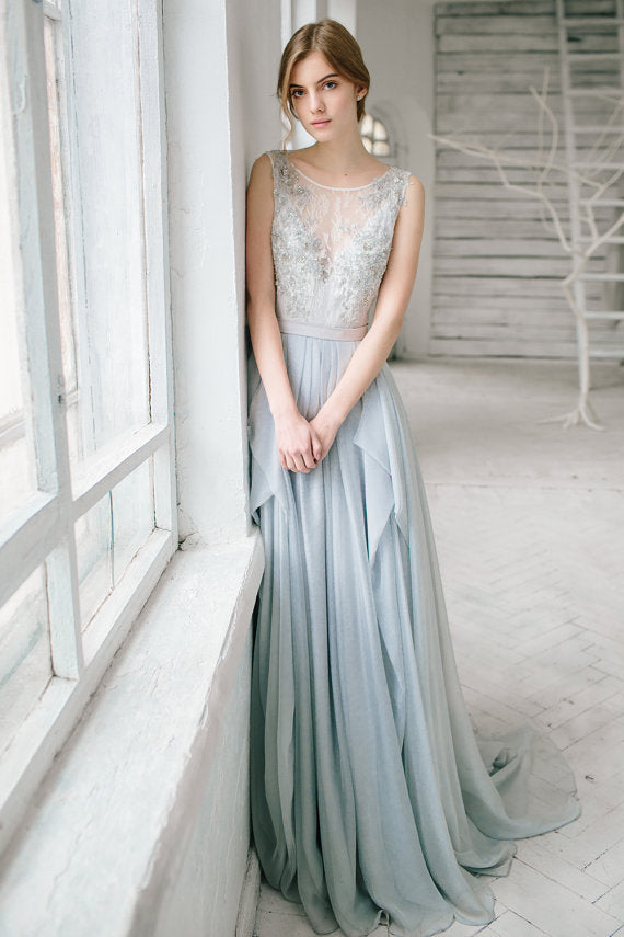 Romantic Long Prom Formal Dresses
