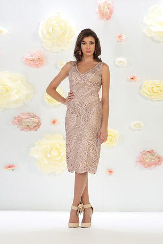 Plus Size Knee-Length Mother Of The Bride Dresses