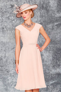 A-Line V-Neck Knee Length Chiffon Mother of the Bride Dress With Jacket
