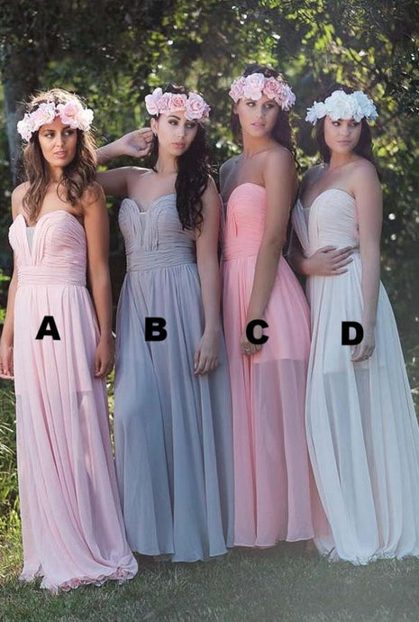 Graceful Chiffon Bridesmaid Dresses