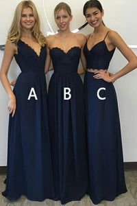 Convertible Elegant Lace & Chiffon Bridesmaid Dresses