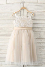 A-Line/Princess Sleeveless Straps Flower Girl Dress