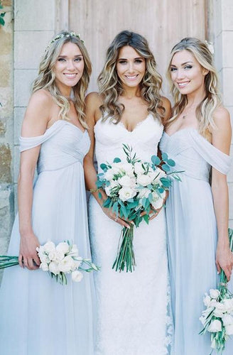 Light Sky Blue Bridesmaid Dress