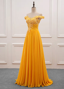 Chiffon Strapless Off-the-Shoulder Prom Dresses