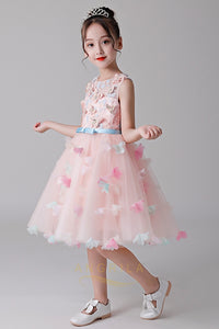 A-Line Sleeveless Flower Girl Dresses