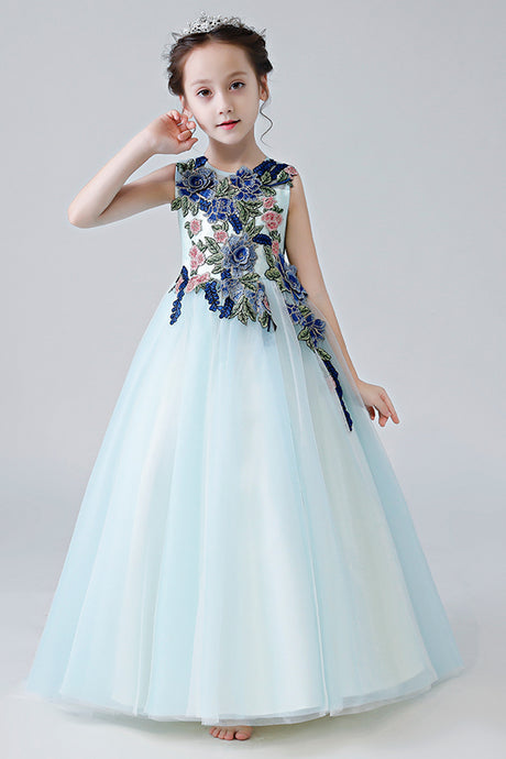 Elegant Jewel Neckline Flower Girl Dresses