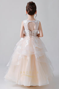 Ball Gown Flower Girl Dresses with Layers