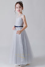 Elegant Long Flower Girl Dresses with Belt