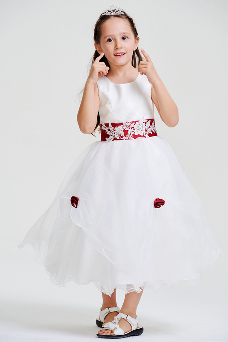 Colored A-line/Princess Tea-Length Flower Girl Dresses