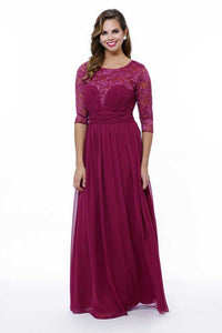 Mother of the Bride Dress with 3/4 Sleeves