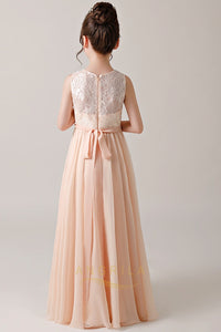 A-line/Princess Chiffon & Lace Flower Girl Dresses