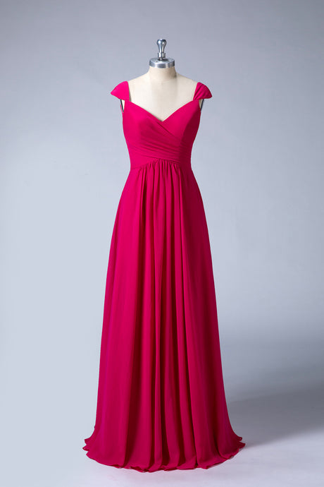 Long A-Line Bridesmaid Dresses