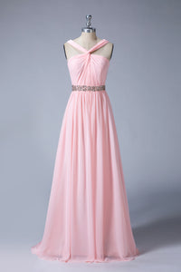 A-Line Sleeveless Chiffon Bridesmaid Dress