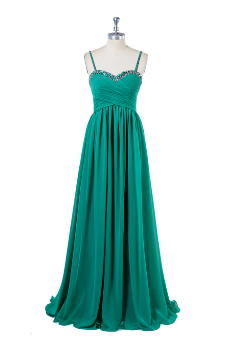Chiffon Sleeveless Sweetheart Bridesmaid Dresses