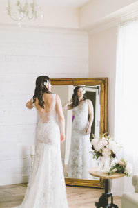Lace Sleeves Long Bridal Dresses