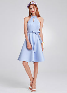 Sky Blue Short Bridesmaid Dress