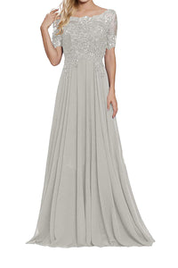 Mother of The Bride Dresses Appliques Beaded Evening Formal Dresses