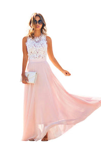 Lace and Chiffon Formal Prom Evening Party Dresses