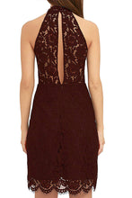 Halter Lace Cocktail Dresses Wedding Guest Dress