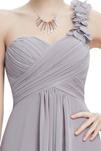 One-Shoulder Empire Waist Floor-Length Bridesmaids Dress