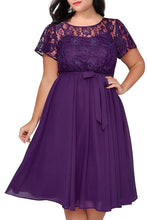 Plus Size Lace and Chiffon Wedding Guest Dresses