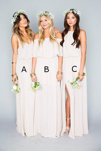 Simple Chiffon Bohemian Bridesmaid Dresses