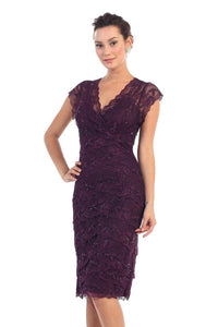 Short Lace Mother of the Bride Dress Cocktail Dress