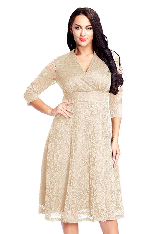 Plus Size Short Mother Of The Bride Dress Angrila