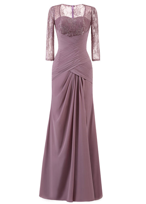 Sheath Sleeved Mother of the Groom Dress