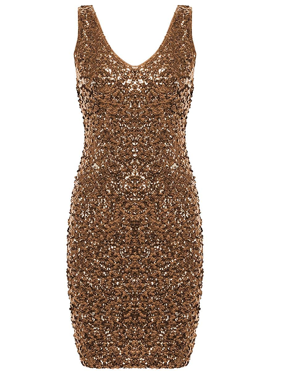 A-Line/Princess Sequined Scoop Neck short/Maxi Prom Dresses