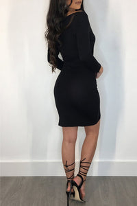 Sexy Women's Short Long Sleeves Prom