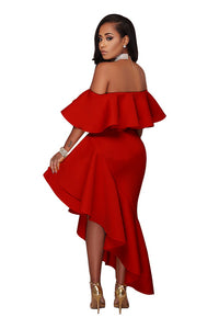 Women's Off-the-Shoulder Asymmetrical Prom & Party Dresses