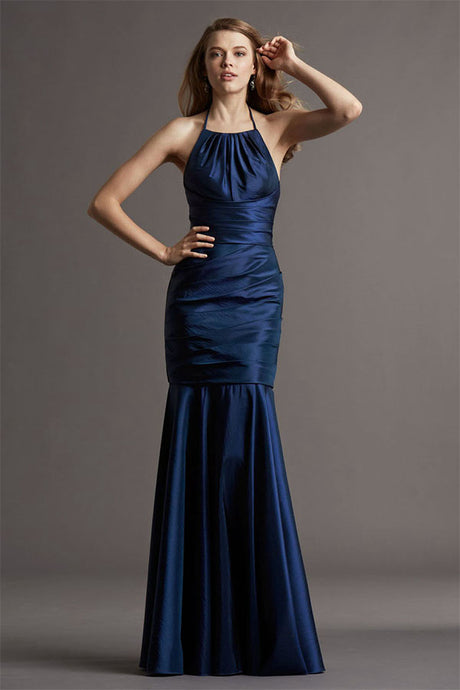 Sleeveless Halter Neck Floor-Length Bridesmaid Dresses
