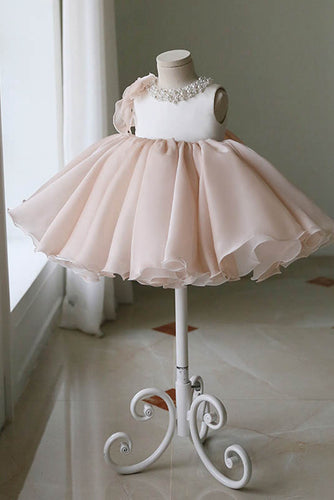 Cute Knee-Length Jewel Tulle Flower Girl Dresses