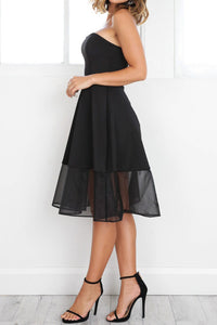 Simple Tulle Sleeveless Knee-length Dress