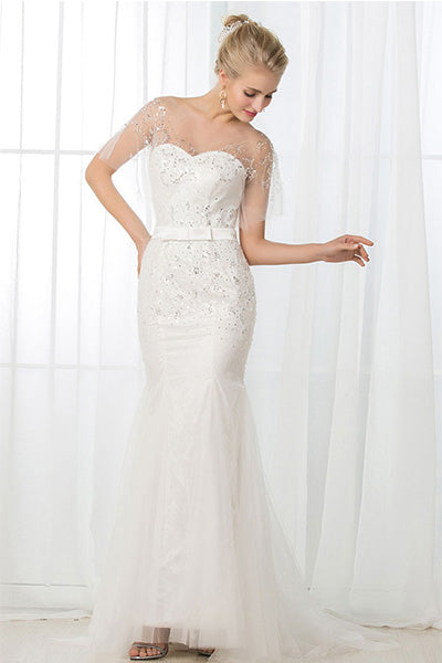 Sweetheart Trumpet Beading Wedding Dresses – Angrila