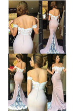 Elegant Off-the-shoulder Mermaid Prom/Evening Dresses with Lace Applique