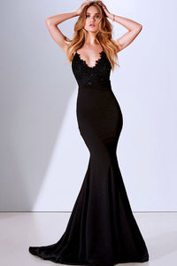 Mermaid Spaghetti Straps V-Neck Long Evening Dresses