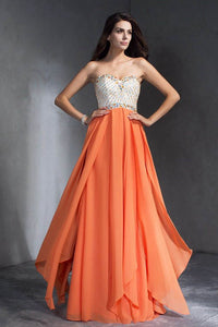 A-Line/Princess Sleeveless Sweetheart Chiffon Cocktail Dresses